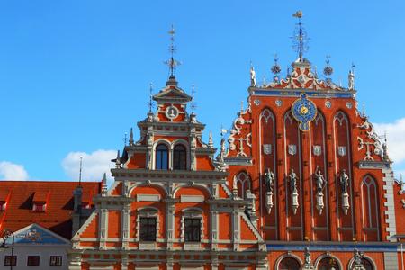 Riga.Latvia. Landmark of the old city.House Of The Blackheads. Stock Photo