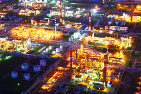 Industrial zone. Industrial factory.Oil refinery.