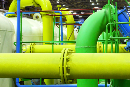 Pipeline. Industrial zone