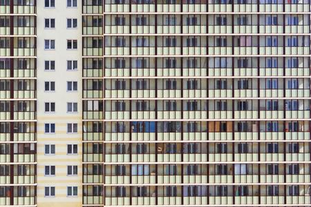 Multi-storey building. The citys buildings.