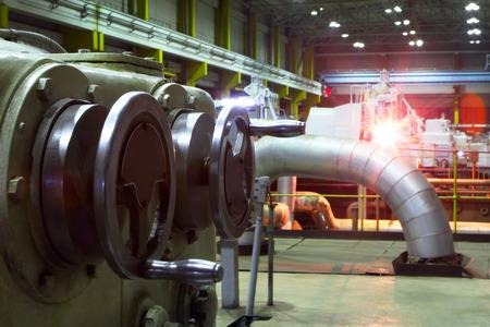 Generator. Electric station.