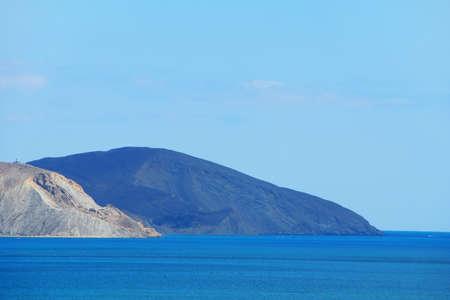Black sea. Calm. Summer. Landscape of the Crimean coast