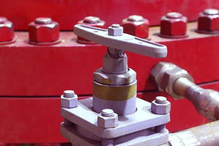 The valve pipeline. Check valve. Industrial equipment