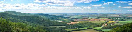 Stitched Panorama of Slovak countryside near Nitra city Stock Photo - 7399015