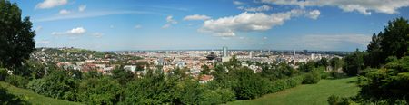 Panorama of Bratislava the capital city of Slovakia Stock Photo