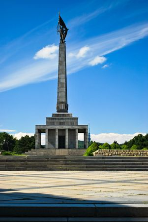 Slavin the memorial and cemetery for Soviet soldiers in Bratislava Stock Photo