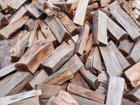 Pile of chooped wood for fire as background photo