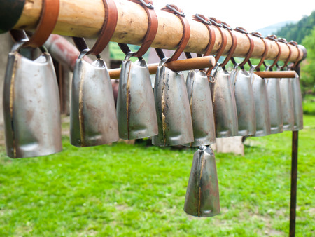 melodic: Hanging sheep bells used as a melodic instrument