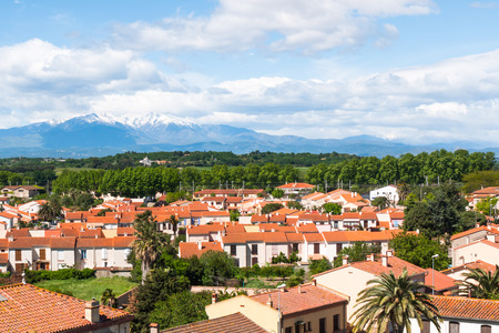 Residential housing developments in region of south France photo