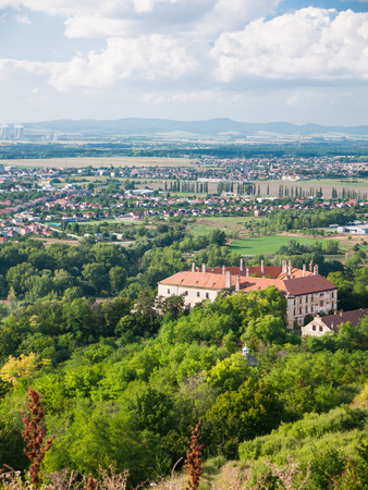 View of residential area in typical suburb zone in Slovakia photo