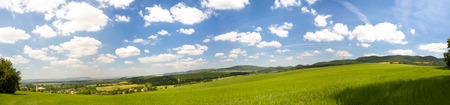 rural countryside: Panoramic view of a typical Slovak rural countryside