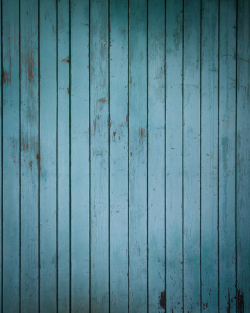 grunge wood: Old blue painted rural wooden fence surface background Stock Photo