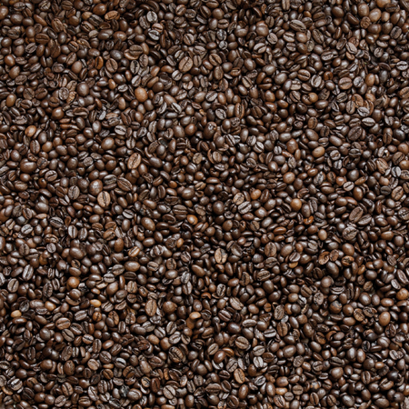 Top view of fresh roasted coffee beans Stock Photo
