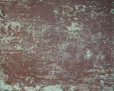 Old wooden table board with shabby and cracked color paint Stock Photo