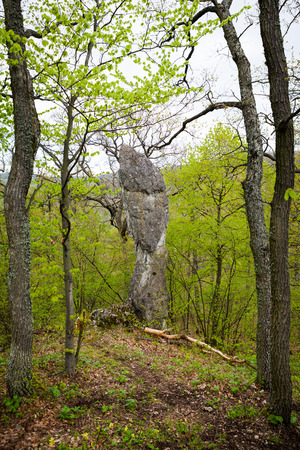 Interessante Felsformationen in Form eines menschlichen Kopfes Lizenzfreie Bilder