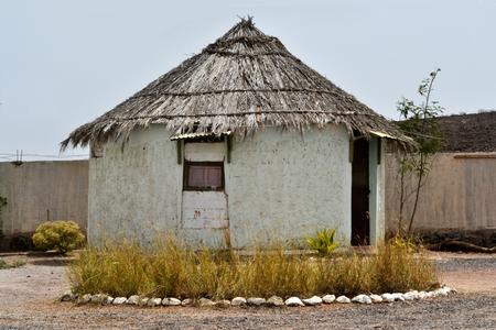 Rounded Djiboutian huts in a village in Arta Region, Djibouti Horn of Africa