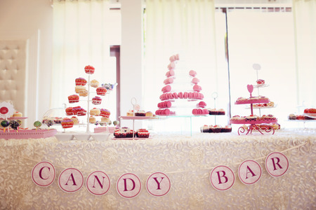 Candy bar for a wedding Stock Photo