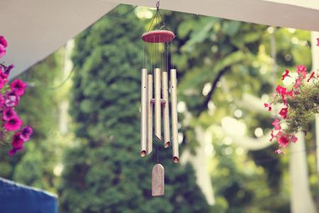 シルバーと木製の風鈴