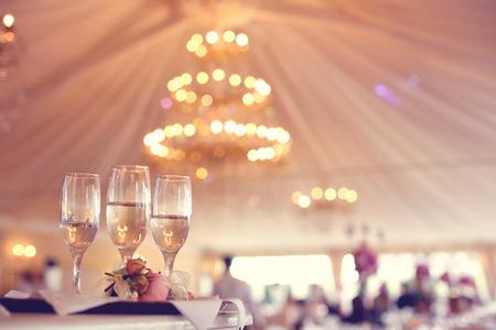 Glasses of wine in a restaurant Фото со стока - 42266264