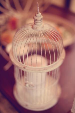 birdcage: Birdcage wedding decoration Stock Photo