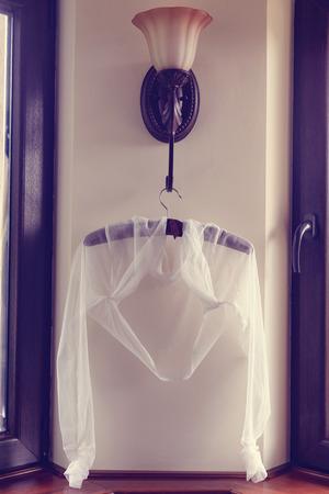 bolero: Veil bolero on hanger