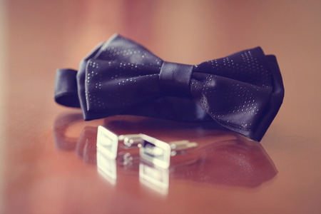 special agent: Elegant and special bowtie and buttons for a man