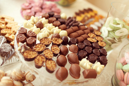 Delicious small chocolates Фото со стока - 42358262