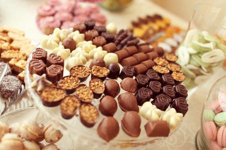 Heerlijke kleine chocolaatjes Stockfoto