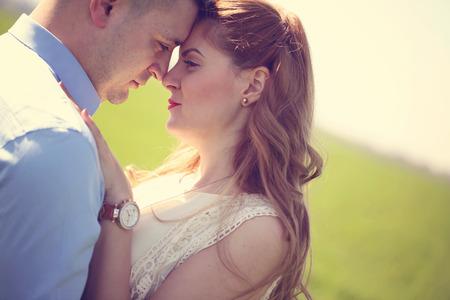 sulight: Portrait of a beautiful couple in the sulight