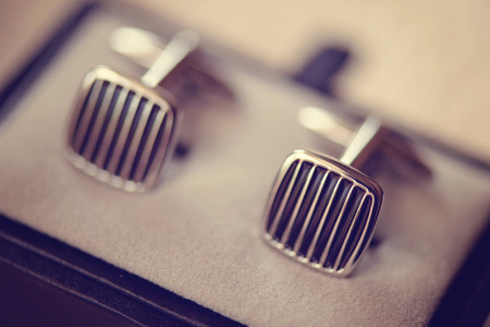 cufflink: Boutonniere for man in a box