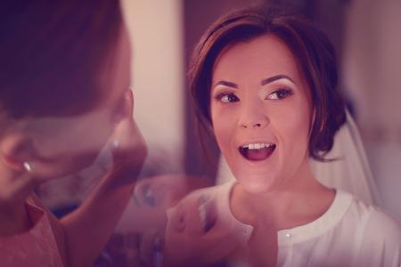 make up artist: Bride at make up artist