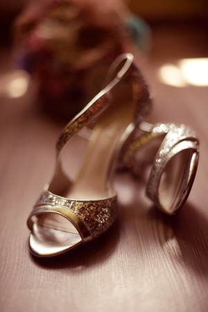 foot gear: Beautiful sandals for a bride