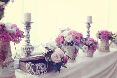 decor: Wedding decor with flowers