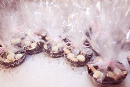 favor: Wedding favor with candy Stock Photo