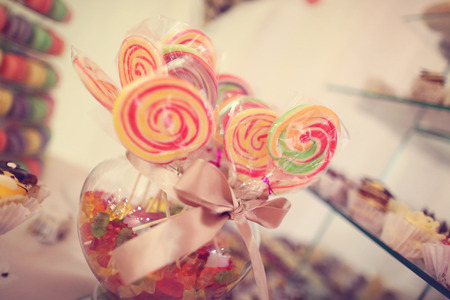chocolaty: Colorful candy on sticks