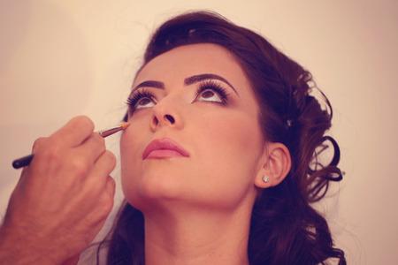 Frau am Make-up Studio