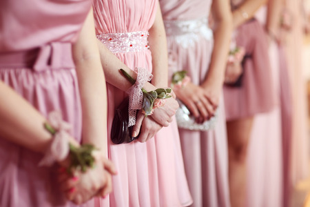 Hands of bridesmaid Banque d'images