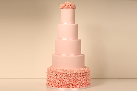 cake tier: 5 tier marzipan wedding cake