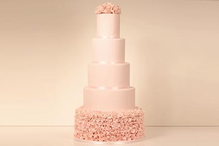 結婚式: 5 層マジパン ケーキ