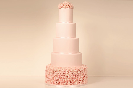 wedding decoration: 5 tier marzipan cake