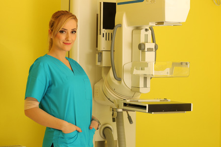 general pediatrician: Beautiful female doctor smile at work