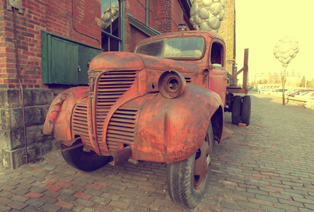 eyesore: Vintage rusty truck car