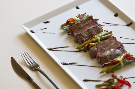 flank: Juicy flank steak with vegetables