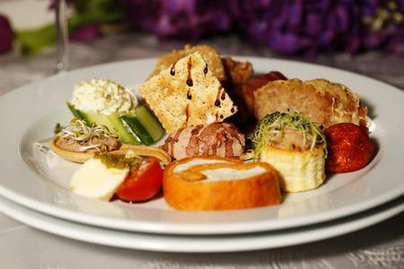 comida gourmet: Delicious gourmet food at restaurant