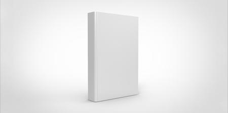 일반 배경에 고립 된 흰색 책 표지 스톡 콘텐츠