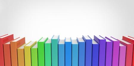 일반 배경 다채로운 책의 행 스택