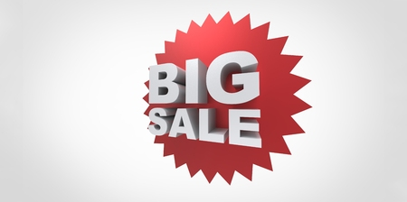 department store: 3D Big sale promo department store spike