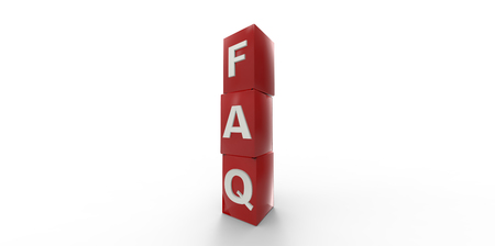 unanswered: 3D red FAQ cubes