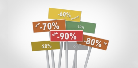 80 90: offer discount off sale 90 80 70 20 60 10 5 percent indicators