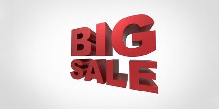 department store: 3D Big sale promo department store Stock Photo